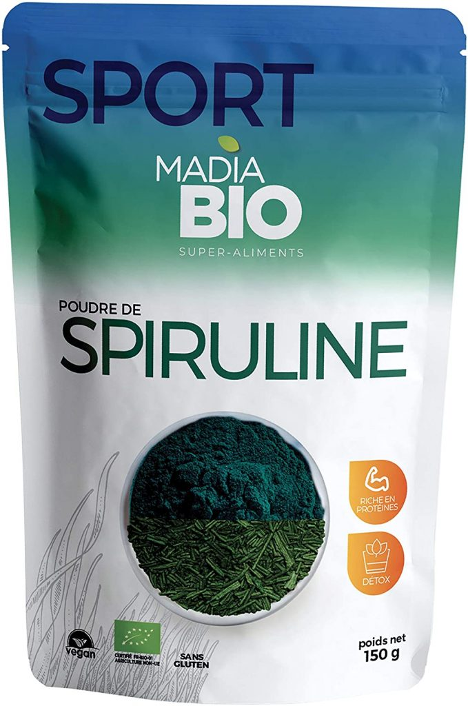 Madia Bio - Sport - Poudre de Spiruline 150 g